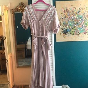 Popular Free People Button up Floral dress Size S